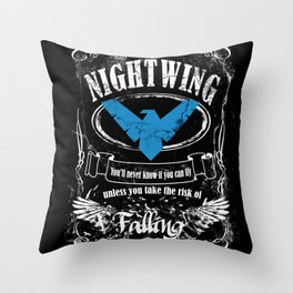 NIGTWING label whiskey style Throw Pillow