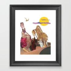 King Hairy III & Queen Georgina enjoy a fluffcamuff ride across the Tipsy Desert Framed Art Print