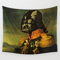 star lord Wall Tapestries featuring Portrait of Lord Vader by kamonkey