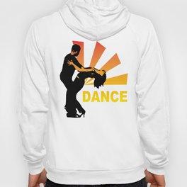 dancing couple silhouette - brazilian zouk Hoody