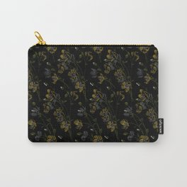 Poppy Floral - Black Carry-All Pouch