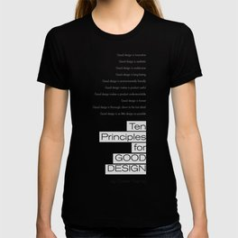 Ten principles for Good Design. By Dieter Rams T-shirt