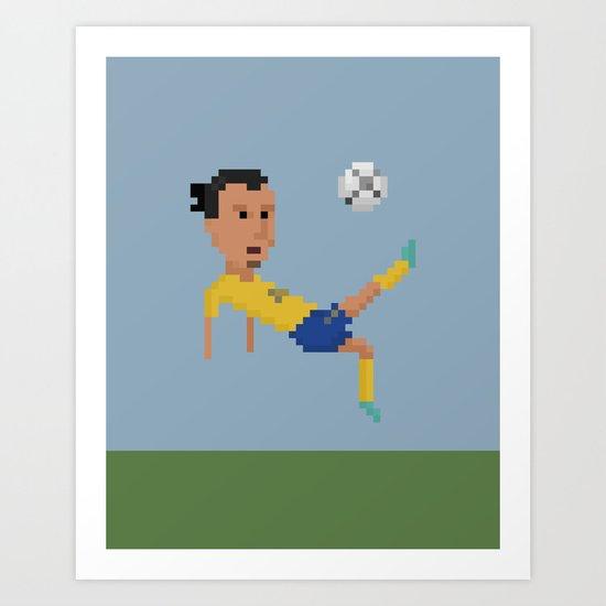 Ibrahimovic's bicycle kick Art Print