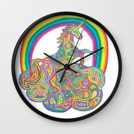 Unicorn on a Clound Wall Clock