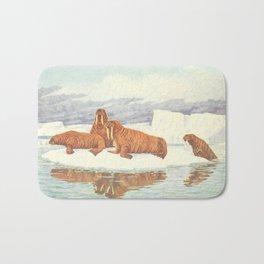 Vintage Illustration of Walruses (1917) Bath Mat