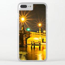 Night on the Moltke-Bridge in Berlin Clear iPhone Case
