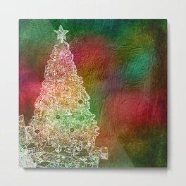 Christmas Tree on Vibrant textured background Metal Print