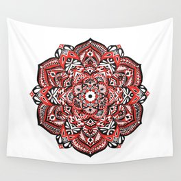 Red Blossom Wall Tapestry