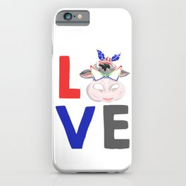 Love Cow iPhone Case