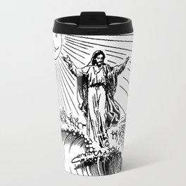 Jesus surfing Travel Mug