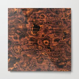 Knotted Wood Metal Print