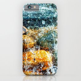 Colorful Stones And Running Bubbling Water iPhone Case