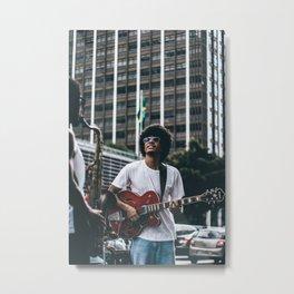 Street Musician Metal Print