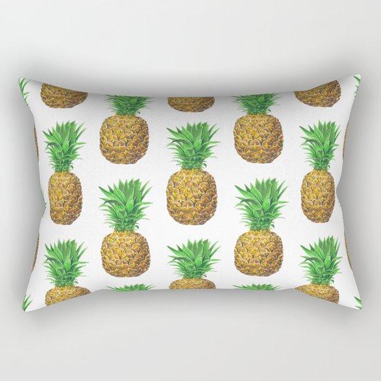 Pineapples, tropical fruit pattern design Rectangular Pillow