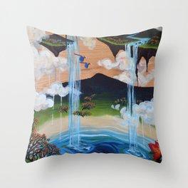 Costa Rican Lagoon Throw Pillow