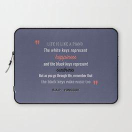 B.A.P Yongguk Quote Laptop Sleeve