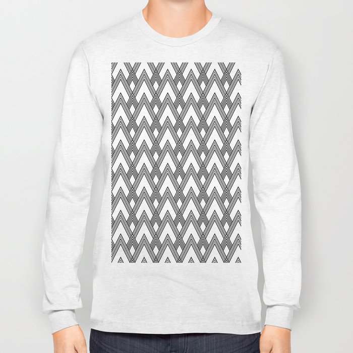 Minimal pattern Long Sleeve T-shirt
