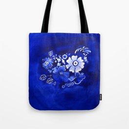 Delft Floral Tote Bag