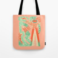 crocodile Tote Bags featuring Crocodile by Natalie Young