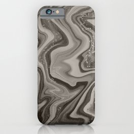 Black, White, & Grey Watercolor Marble iPhone Case