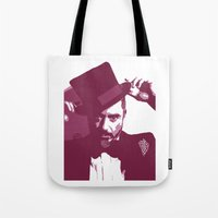 robert downey jr Tote Bags featuring Mr. Robert Downey Jr. by Arianrhod