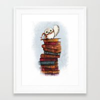 hedwig Framed Art Prints featuring Hedwig by Sam Skyler