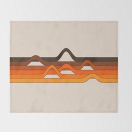 Golden Wavelength Throw Blanket