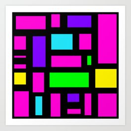 Multicoloured rectangle pattern Art Print
