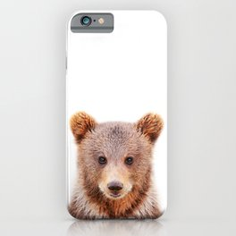 Baby Bear, Baby Animals Art Print By Synplus iPhone Case