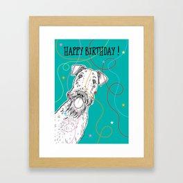 Happy Birthday Dog Framed Art Print