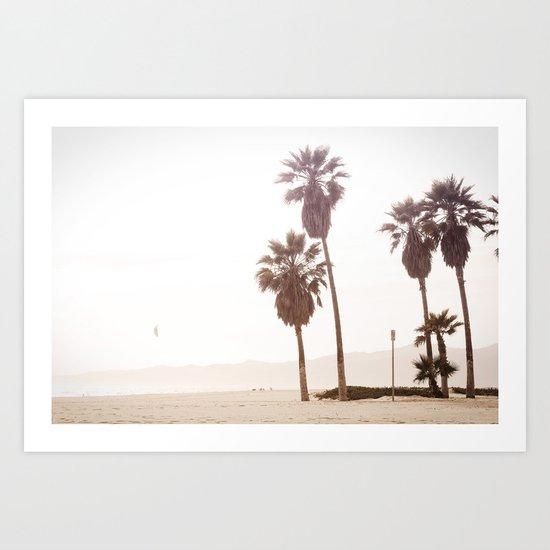 Vintage Summer Palm Trees Art Print