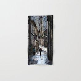Pilgrim in Santiago de Compostela; after the walk Hand & Bath Towel