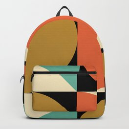 Mid Century Modern Geometric Abstract 235 Backpack