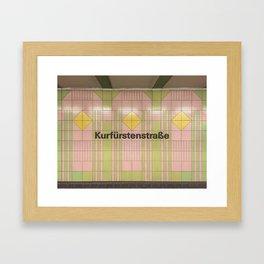 Berlin U-Bahn Memories - Kurfürstenstraße Framed Art Print