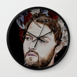 Misha Collins 2., acrylic painting Wall Clock