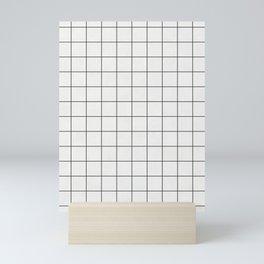 Small Grid Pattern - White Mini Art Print
