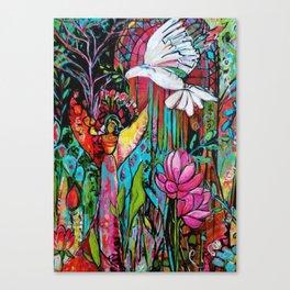 Peace, Love, Understanding Canvas Print