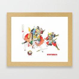 Kyattofaito Framed Art Print