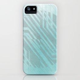 blue centre iPhone Case