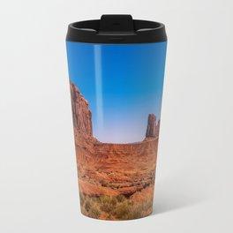 Moon rising in Monument Valley Travel Mug