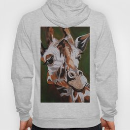 Giraffe, acrylic on canvas Hoody