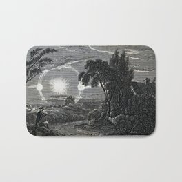 Hay, after Craig - Atmospheric Condition giving the Appearance of Two Suns (1820) Bath Mat