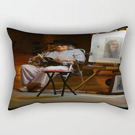 Portrait Artist Rectangular Pillow