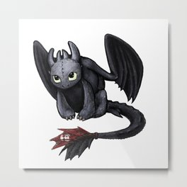 Toothless - How to Train Your Dragon Metal Print