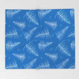 Frosted Fronds & Berries Throw Blanket