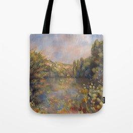 Lakeside Landscape by Renoir Tote Bag