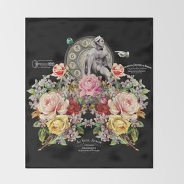 Nuit des Roses Revisited for Him Throw Blanket