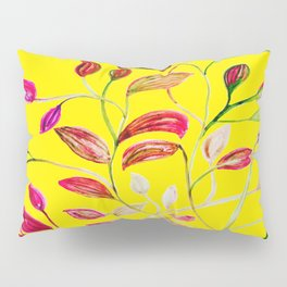 Red and Green Leaves! Yellow Sunshine! Pillow Sham