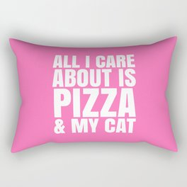 ALL I CARE ABOUT IS PIZZA & MY CAT (Pink) Rectangular Pillow