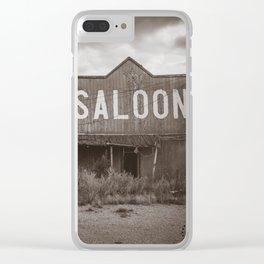 Saloon, Wabek, North Dakota 4 Clear iPhone Case